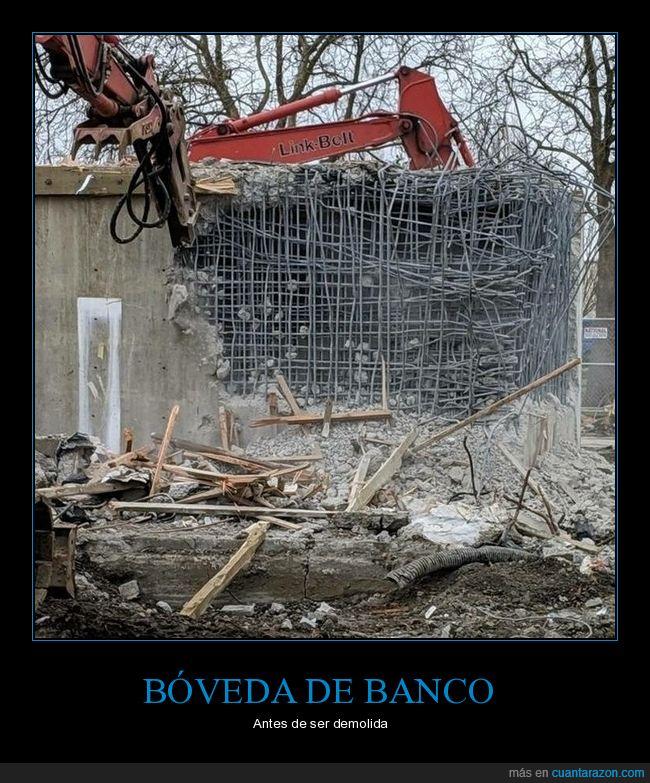 banco,bóveda,demolida