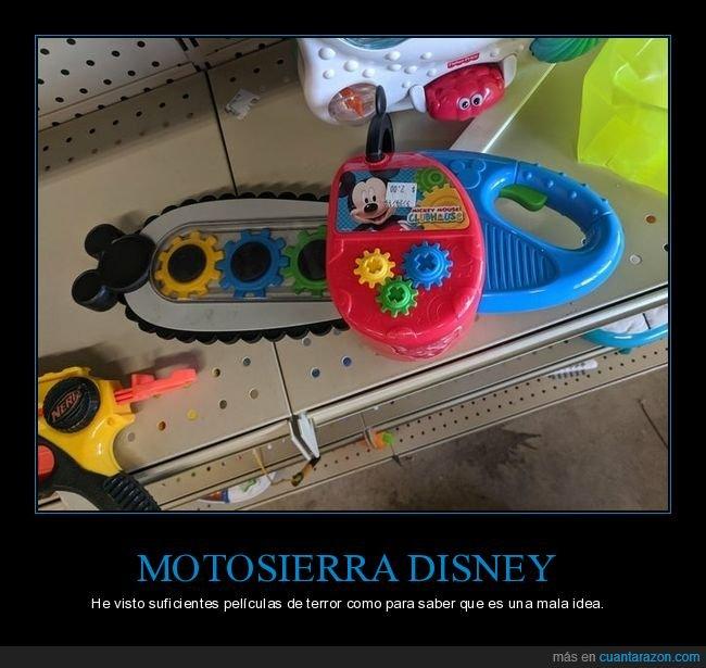 disney,juguete,juguetería,motosierra,wtf