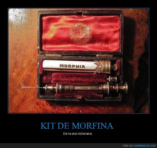curiosidades,era victoriana,kit,morfina