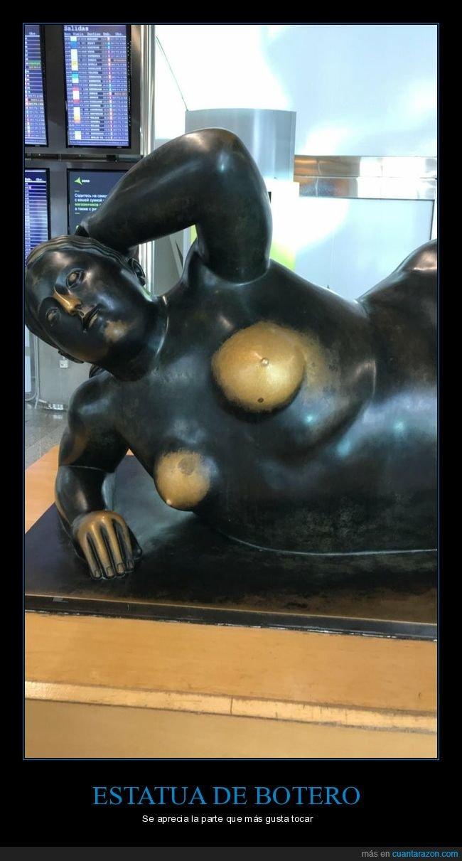botero,estatua,tocar