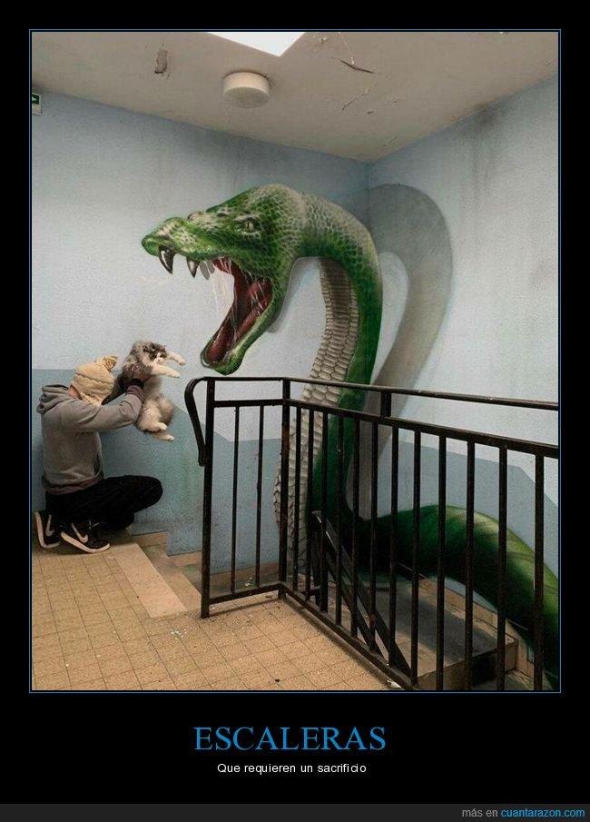 escaleras,gatos,sacrificio,serpiente