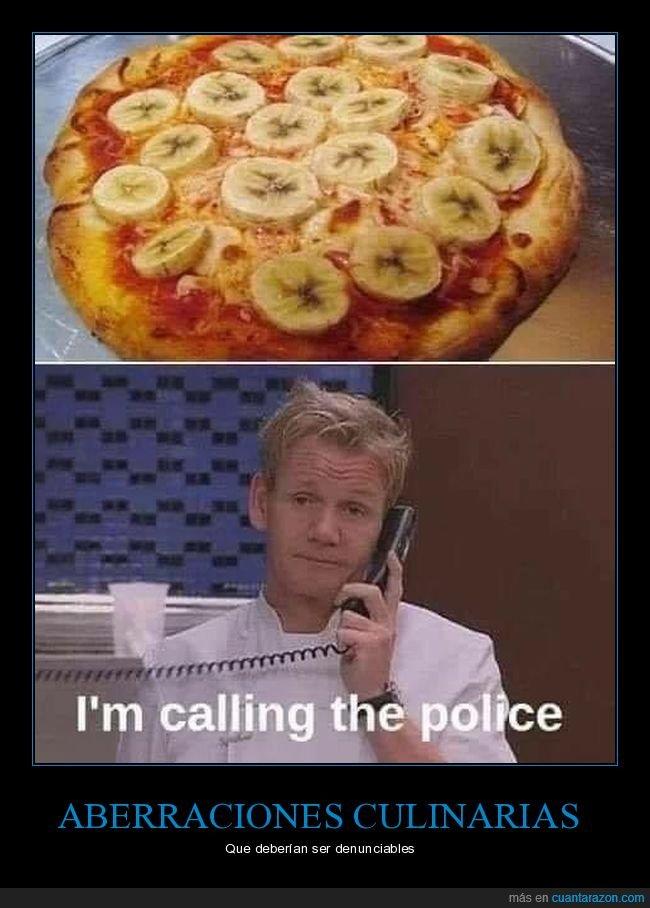 asco,pizza,plátano,ramsay
