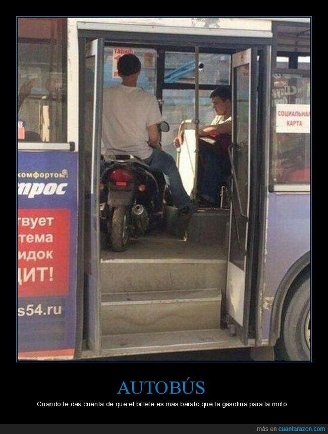 autobús,moto,wtf