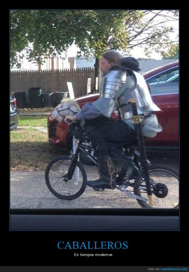 armadura,bicicleta,caballero,wtf
