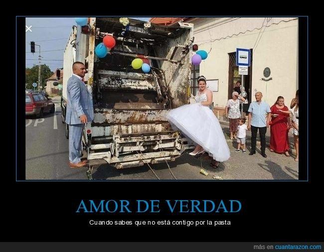 boda,camión de basura,wtf