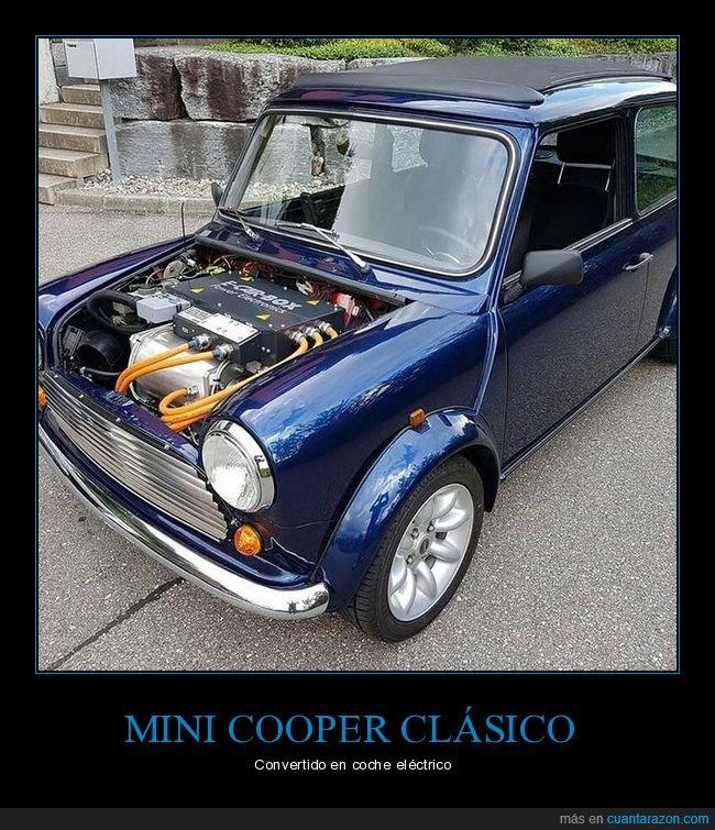coche,eléctrico,mini cooper