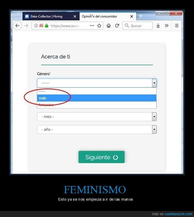 elegir,femenino,género,malo