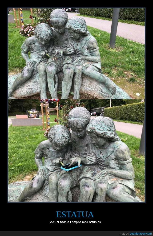 estatua,móvil,niños