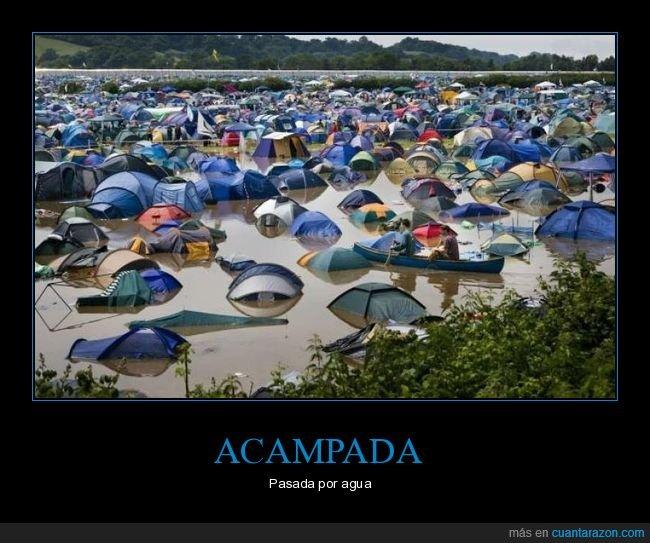 acampada,fails,inundación