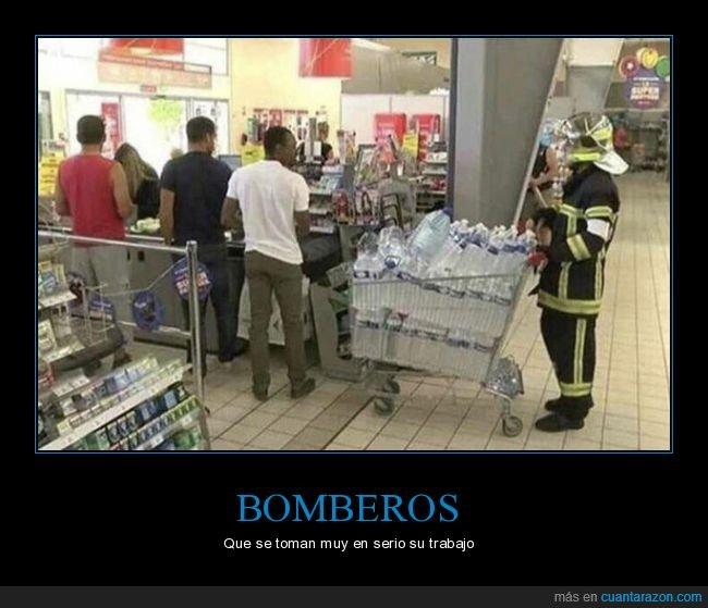 agua,bombero,supermercado