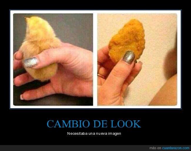 cambio de look,nugget,pollito,pollo