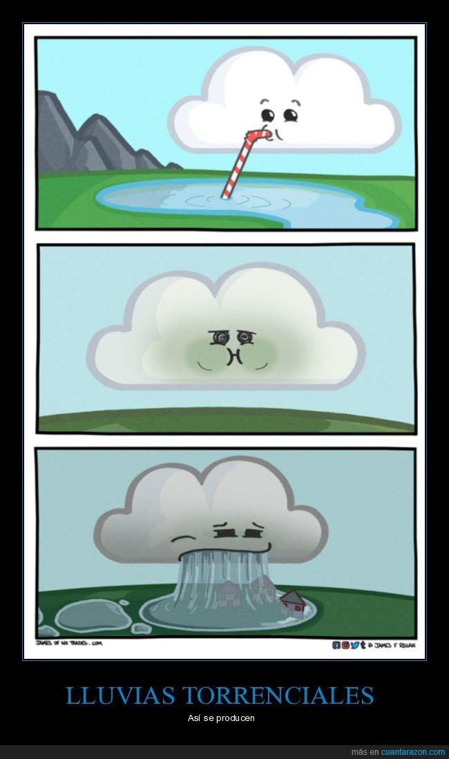 bebiendo,lluvia,nube
