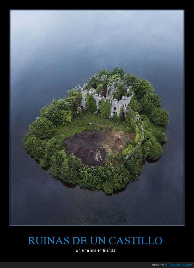 castillo,irlanda,isla,ruinas