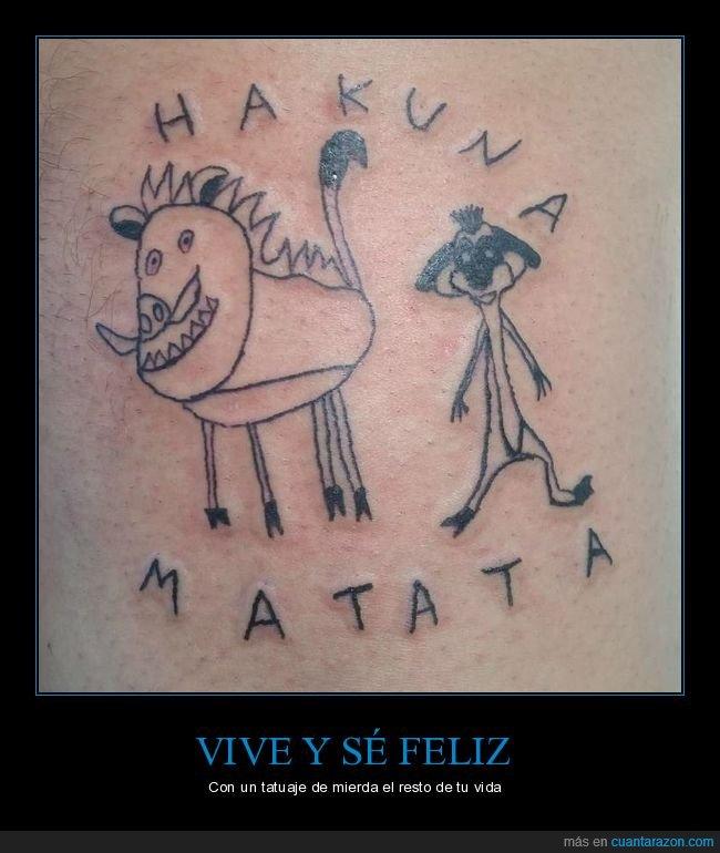 el rey león,fails,hakuna matata,tatuaje,timón y pumba