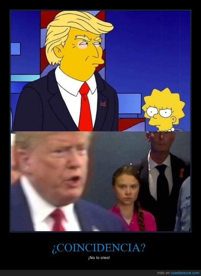 donald trump,lisa,parecidos,políticos,simpsons
