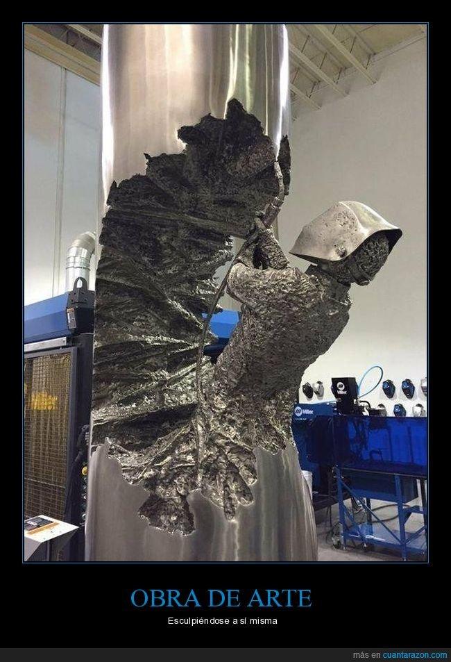 acero,escultura,obra de arte