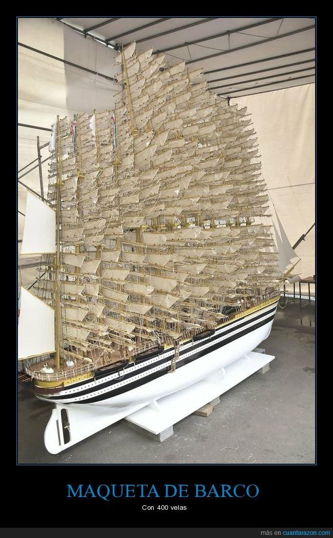 barco,maqueta,velas