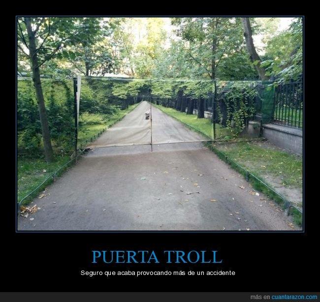 carretera,foto,puerta,trolling