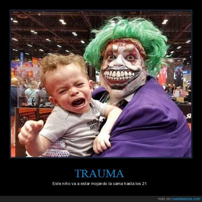 miedo,niño,payaso,trauma