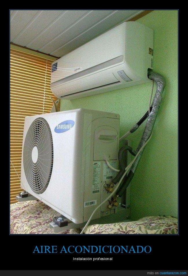 aire acondicionado,fails,instalación