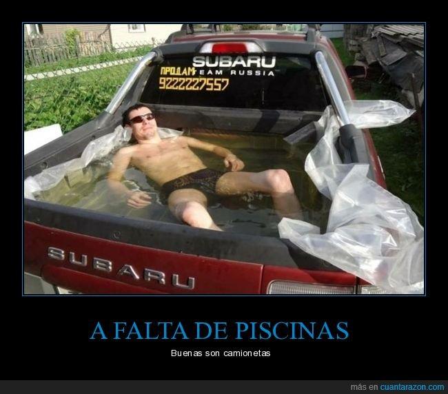 camioneta,piscina