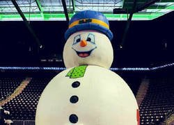 Enlace a El muñeco de nieve parece feliz