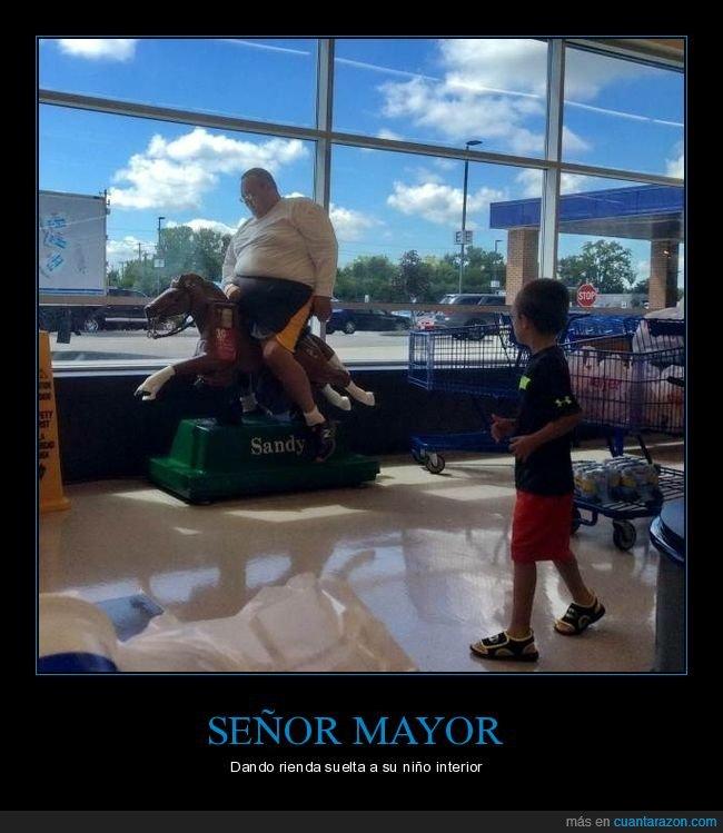 caballo,niño,señor