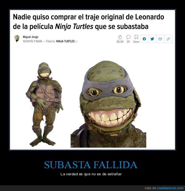 leonardo,subasta,tortugas ninja,traje