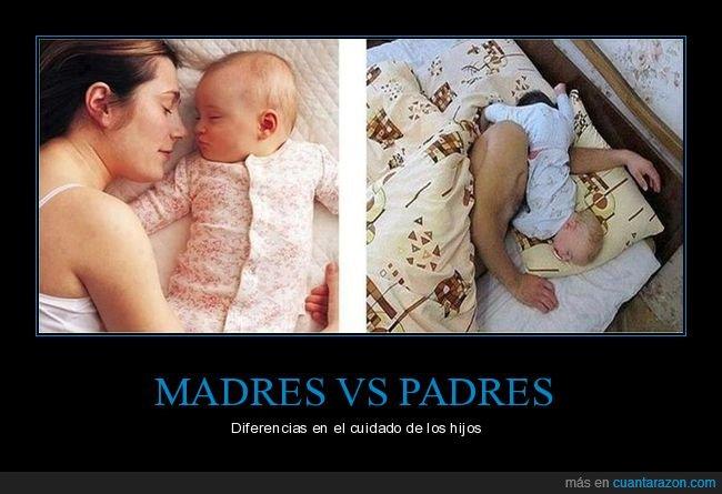 diferencias,durmiendo,hijos,madres,padres
