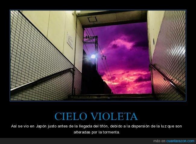 cielo,japón,tifón,violeta