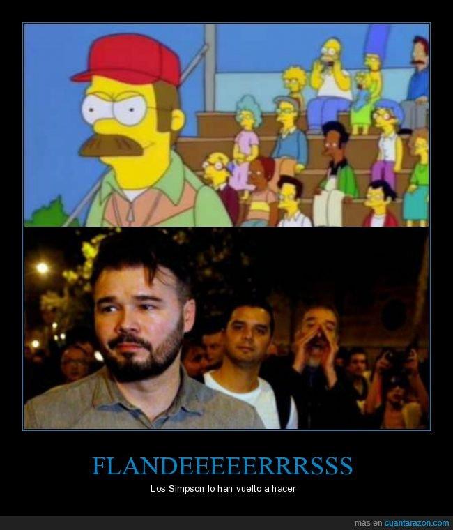 cataluña,flanders,parecidos,políticos,rufián,simpsons