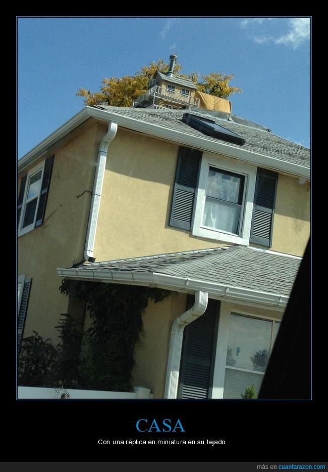 casa,miniatura,réplica,tejado