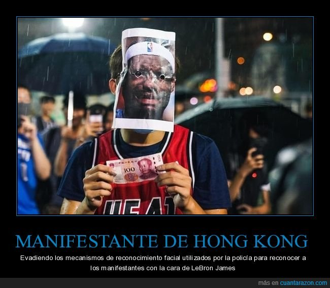 hong kong,manifestante,reconocimiento facial