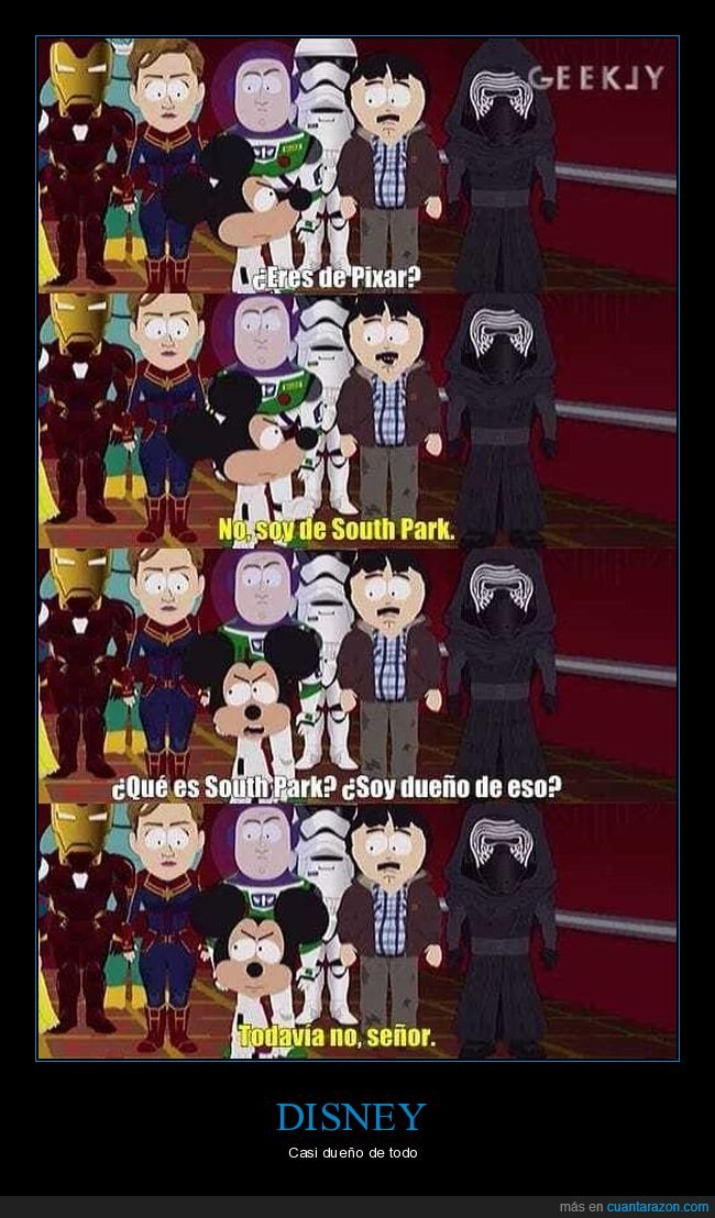 disney,dueño,south park