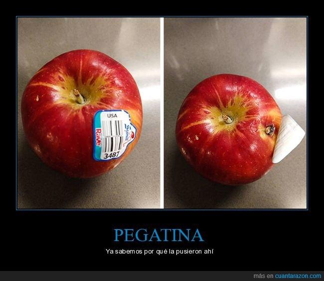 manzana,pegatina,wtf