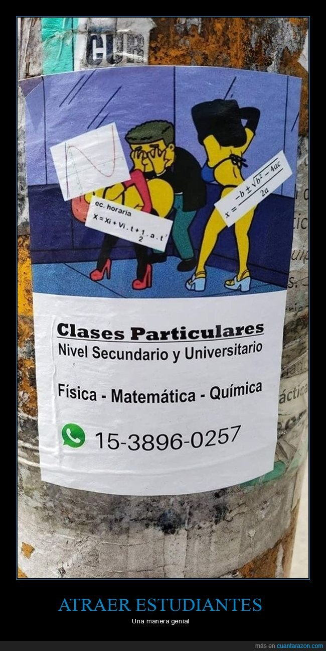 anuncio,clases particulares,simpsons,smithers