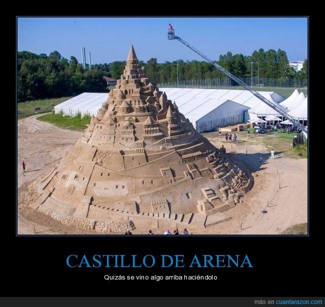 castillo de arena,gigante,wtf