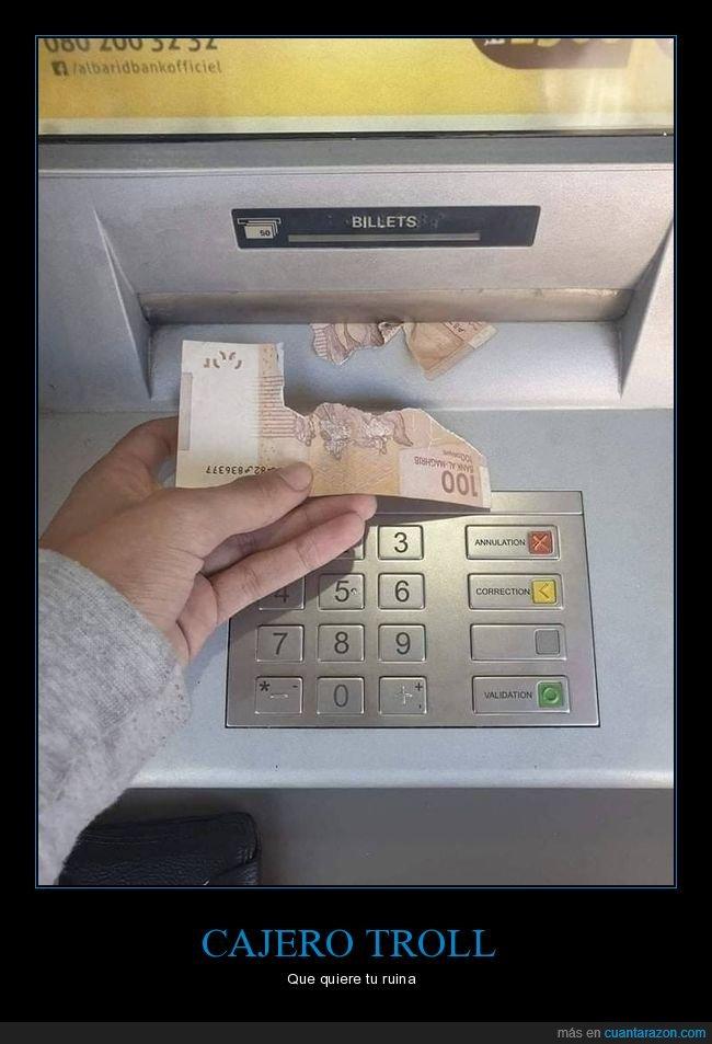 billete,cajero,fails,roto