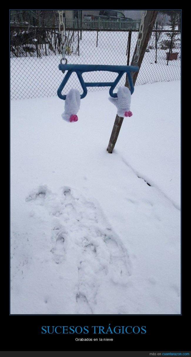 columpio,fails,guantes,nieve
