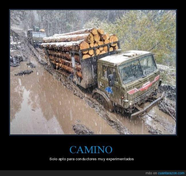 barro,camino,camiones