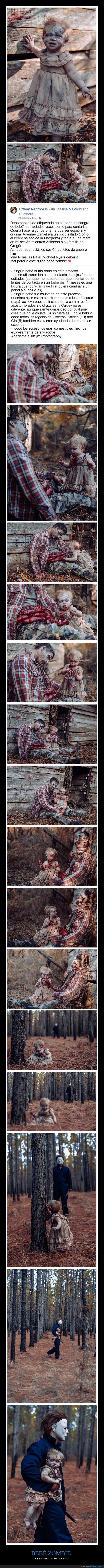 bebé,sesión de fotos,zombie