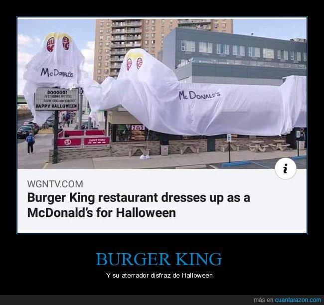 burger king,disfraz,mcdonald's