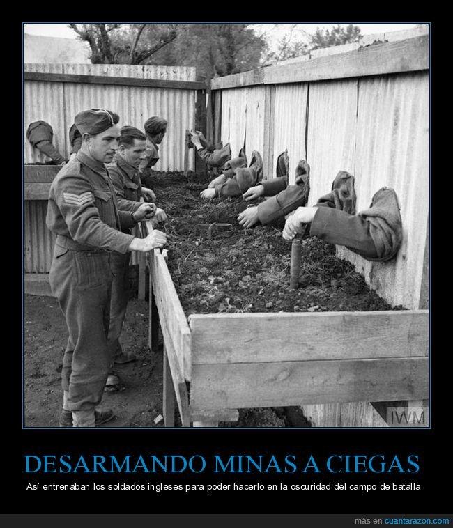 a ciegas,desarmar,entrenamiento,minas