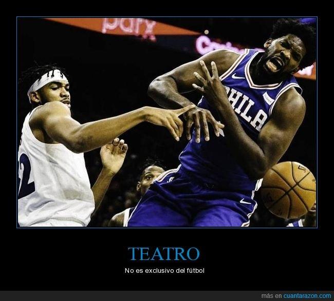 baloncesto,dedo,quejándose,teatro,tocando