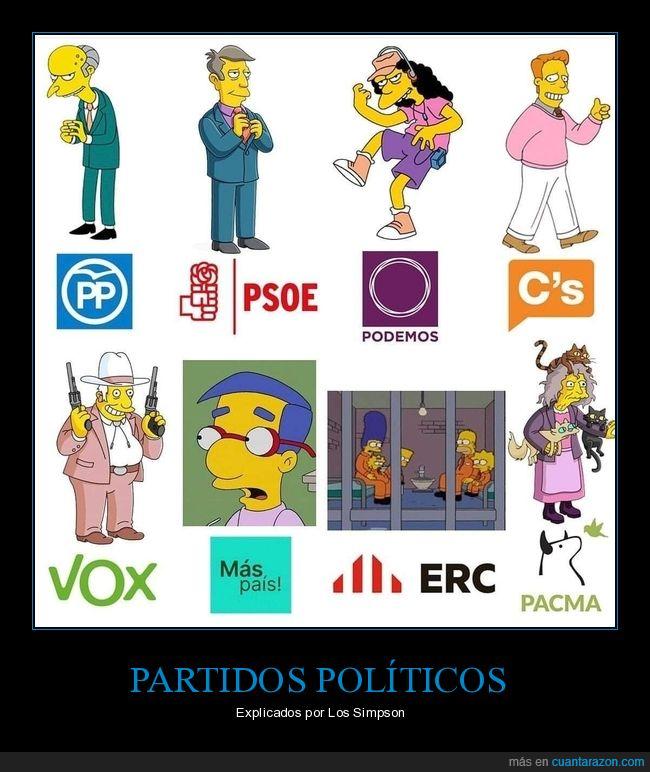 partidos,políticos,simpsons