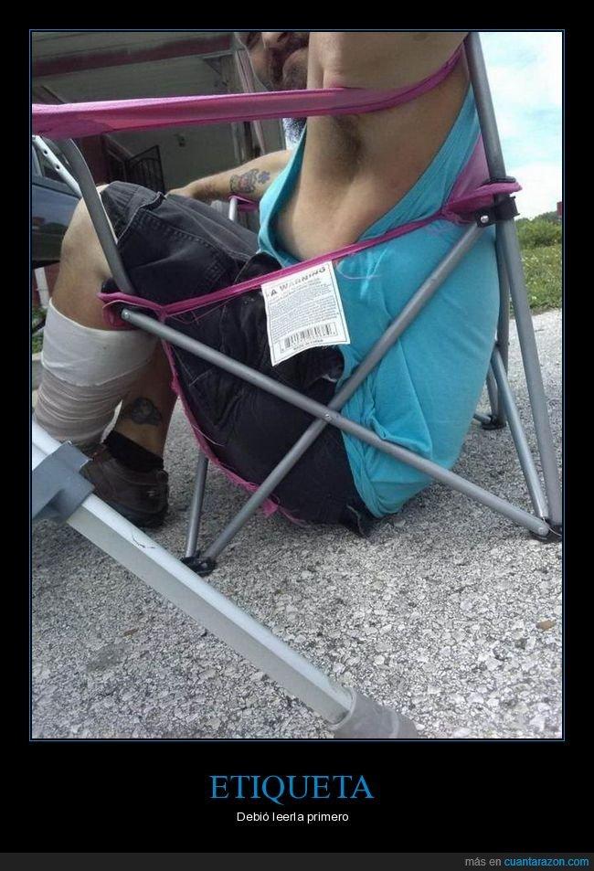 etiqueta,fails,silla