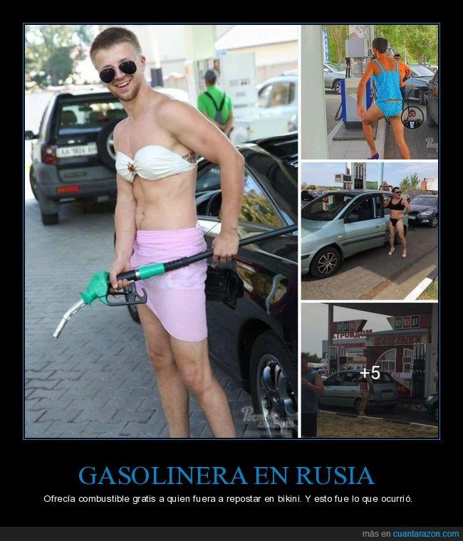 bikini,gasolina,gasolinera,gratis,rusia,rusos