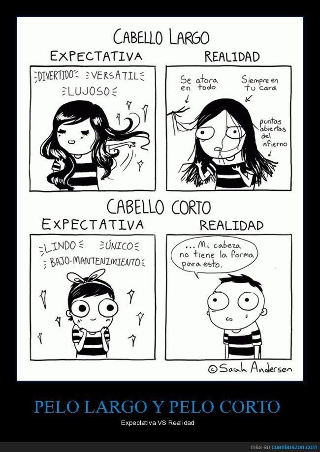 corto,expectativa,largo,pelo,realidad