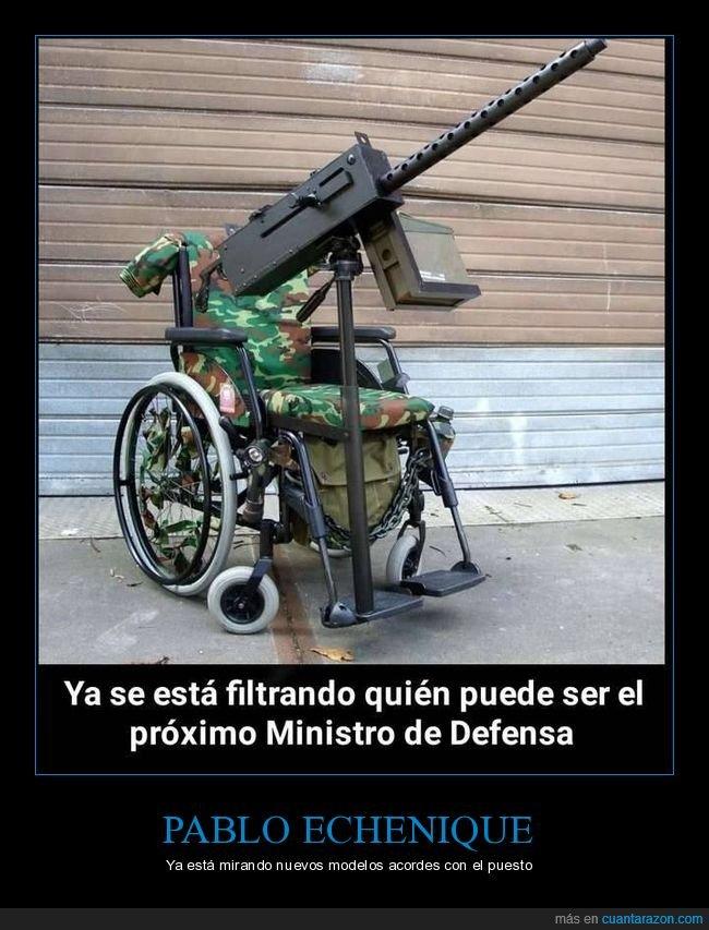 minsitro de defensa,pablo echenique,políticos,silla de ruedas