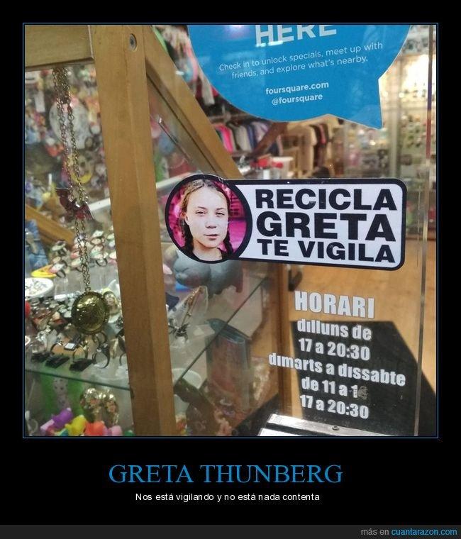 greta thunberg,reciclar,vigilar